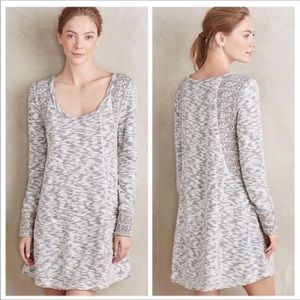 Anthropologie French Terry Sweater Tunic Dress